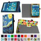 Folio Stand Case PU Leather Cover for 2015 Amazon Fire 7 /Fire HD 8 /Fire HD 10