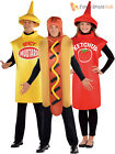 Adults American Food Costume Hot Dog Sauce Fancy Dress Mens Ladies Outfit