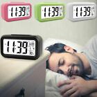Automatic Night Digital Snooze Electronic LED Display Alarm Desk Clock Thermomet