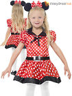Girls Cute Minnie Mouse Costume Childs Polkadot Fancy Dress Kids Book Week Day