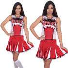 Adult Cheerleader Costume High Sexy School Girl Fancy Dress Hen Party Outfit