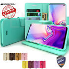 GOOSPERY® Slim Flip Leather Wallet Case Book cover for iPhone 8 Galaxy S9 Note 8