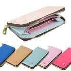 Leather Smart Zip Wallet Credit Card Case Purse for Apple iPhone 5 5S 6 6S Plus