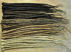 Dreadlock Extensions SINGLE ENDED 50cm long & 1cm wide,  10 individual dreads