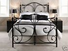 4FT6 Double Bed - Classic Metal Bed + Memory Foam Topped Mattress Option