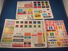 LINKA 3 SHEETS VARIOUS STICKERS/SIGNS GOOD CONDITION OO GAUGE