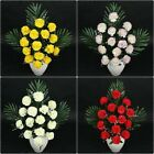 LARGE Artificial Carnation Bush Flower Greenery Silk Bouquet Decor Christmas