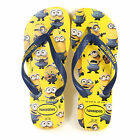 Havaianas Unisex Minions Rubber Slip On Flip Flop Yellow / Navy