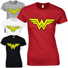 Wonder Woman Ladies Fitted T-Shirt - Retro Womens Superhero Inspired Fan Top