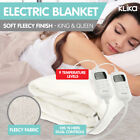 NEW ELECTRONIC FLEECE ELECTRIC BLANKET HEATED FITTED KING QUEEN size BED Safety