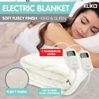 NEW ELECTRONIC FLEECY ELECTRIC BLANKET HEATED FITTED in KING and QUEEN size BED