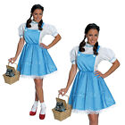 Womens Rubies Wizard Of Oz Dorothy Ladies Fancy Dress Costume Or Toto In Basket