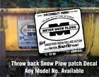 =3 MEYER Snow Plow Decals 1 Large Rear Blade old style +1 Front MEYER 1Frame MOS