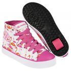 Heelys Veloz Wheeled Roller Shoes - White Pink Flamingo Print + Free DVD