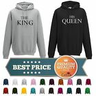 The King & His Queen HOODIES ALL SIZES AND COLOURS AVAILABLE HIS & HERS UNISEX
