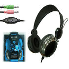 OVLENG 3.5mm Universal In-line Control Computer PC Headsets Headphones With Mic