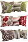 LUXURY CHENILLE CUSHION COVER MIX AND MATCH FLORAL LEAF STRIPE DESIGNS