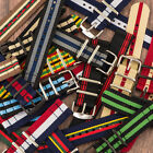 2 Piece Classic Nato STRIPED Nylon Replacement Watch Strap Band