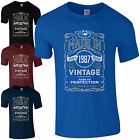 Made in 1987 T-Shirt Born 30th Year Birthday Age Present Vintage Funny Mens Gift