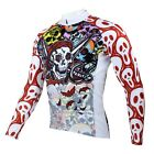 Outdoor Men's Skull Long Sleeve Cycling Clothing Bike Cycling Jersey Bicycle