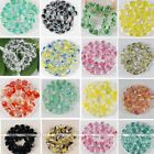 "Multicolor Crystal Glass Octagon Cube Caved Loose Beads 12.5"" Fit Jewelry Diy"