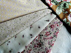 LECIEN QUALITY JAPANESE CRAFT COTTON FABRIC,F/Q ROSES & CHINTZ,BEIGE,BROWN,PINKS
