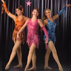 Watercolors Dance Costume Tie Dye Ice Skating Tap Dress and Sleeve Clearance