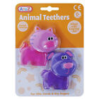 Animal Teethers Gel Filled Cooling Twin Pack Baby Various Textures Colours