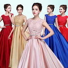 Floral Lace Evening Party Ball Gown Prom Wedding Bridesmaids Bridal Long Dress