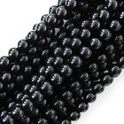 "Black Onyx Round Beads Gemstone 15"" Strand 2mm 4mm 6mm 8mm 10mm 12mm 14mm"