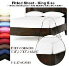 """FITTED PERCALE EXTRA DEEP 6/8/10/12/14/16"""" SINGLE,DOUBLE KING SUPER KING SHEETS image"""