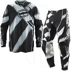 Shift Motocross Pantaloni Tuta Faction Stroke schwarz-bianco Cross MX FMX