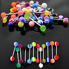 10/30/50 Mixed Tongue Tounge Nipple Ear Ring Barbell Body Piercing Jewelry TB