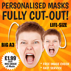 PERSONALISED PHOTO FACE MASKS custom, BIG A3 + Life-size STAG DO HEN NIGHT PARTY