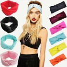 Lady's Cotton Turban Twist Head Knot Headband Wrap Twisted Knotted Hair Band New