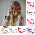 Fashion Women Girl Floral Garland Hairband Wedding Party Flower Elastic Headband