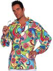 Costumes! Monterey Summer of Love Psychadelic Paisley Print.Men's Costume Shirt