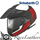 SCHUBERTH E1 GUARDIAN RED ENDURO FLIP FRONT GREEN LANING MOTORCYCLE BIKE HELMET