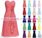 Short New Formal Evening Ball Gown Party Prom Bridesmaid Dresses Stock Size 6-18