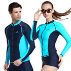 2016 NEW! Men Black Thin Snorkeling Diving Skinsuit Surfing Long-sleeve Tops