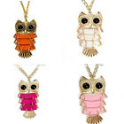 Women Vintage Owl Pendant Long Sweater Chain Necklace Jewelry Gift