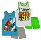 Boys Teenage Mutant Ninja Turtles Vest And Short Pyjama Set New Kids Nightwear