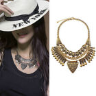 2016 Vintage Carving Alloy Choker Bohemia Fashion Statement Necklaces For Women