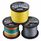 8 Strands Agepoch 100M-1000M 5 Colors PE Dyneema Braided Fishing Line 10LB-100LB