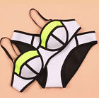 2015 Women Neon Swimwears Neoprene Bikini Swimsuit Set Underwire Bikini Set