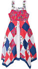 Girls Floral Polkadot Dress New Kids Pink Navy Pretty Party Dresses Age 2-10 Yrs