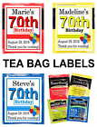 70TH BIRTHDAY PARTY FAVORS TEA BAG LABELS TEA PARTY