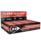 Dunlop Squash Balls Progress Red The Official Sports Ball of the WSF, PSA, WSA