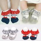 0-3Y Toddler Kids Baby Socks Bowknot Ruffle Polka Pattern Cotton Ankle Socks