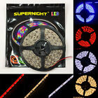 5M 3528 & 5050 SMD 300LEDs Strip Fairy Light Black PCB Waterproof Fr Home Garden